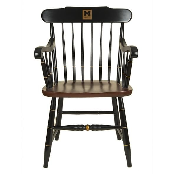 University of Michigan Captain's Chair by Hitchcock - Image 1