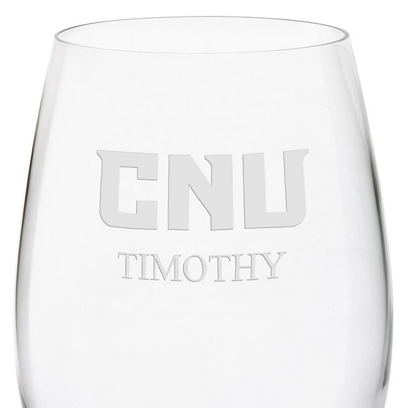 Christopher Newport University Red Wine Glasses - Set of 4 - Image 3