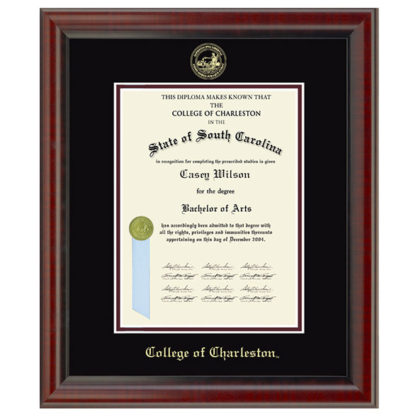 College of Charleston Diploma Frame, the Fidelitas