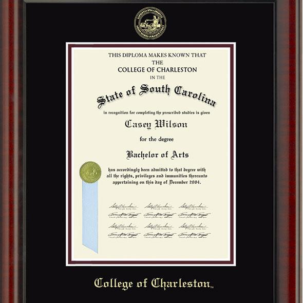 College of Charleston Diploma Frame, the Fidelitas - Image 2