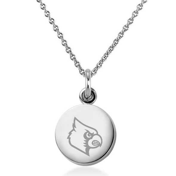 University of Louisville Necklace with Charm in Sterling Silver