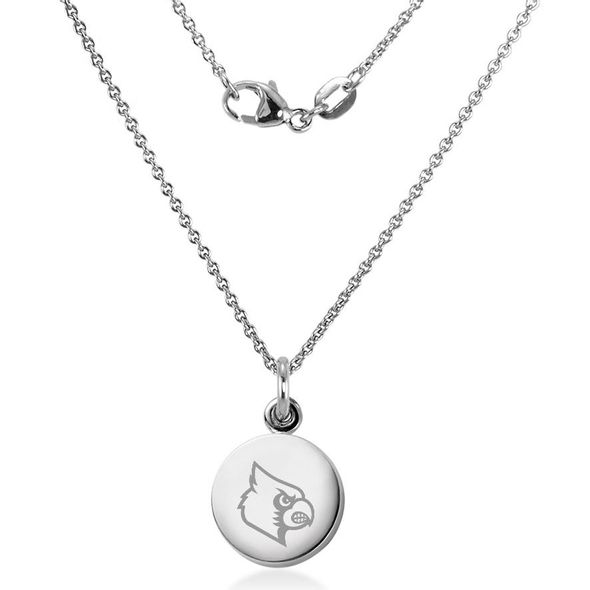 University of Louisville Necklace with Charm in Sterling Silver - Image 2