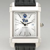 Pitt Men's Collegiate Watch with Leather Strap