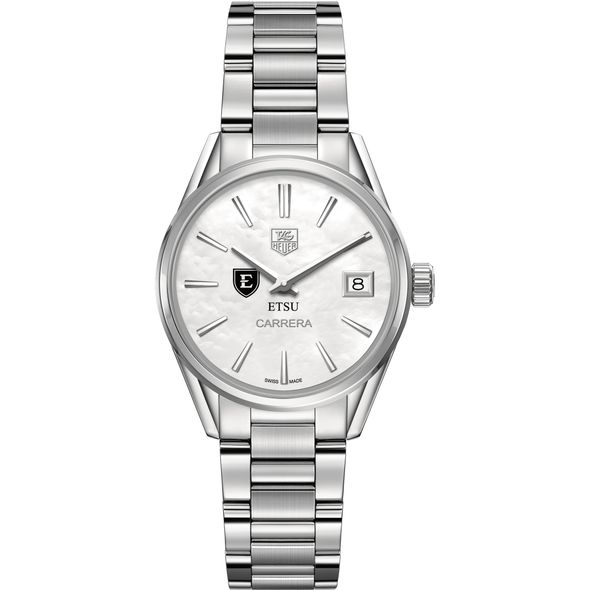 East Tennessee State University Women's TAG Heuer Steel Carrera with MOP Dial - Image 2