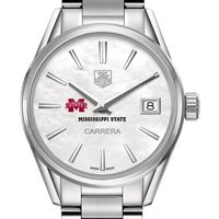 Mississippi State Women's TAG Heuer Steel Carrera with MOP Dial