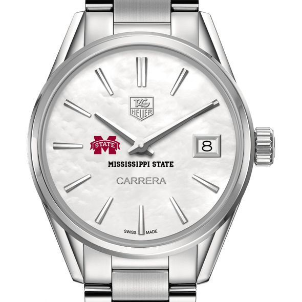 Mississippi State Women's TAG Heuer Steel Carrera with MOP Dial - Image 1