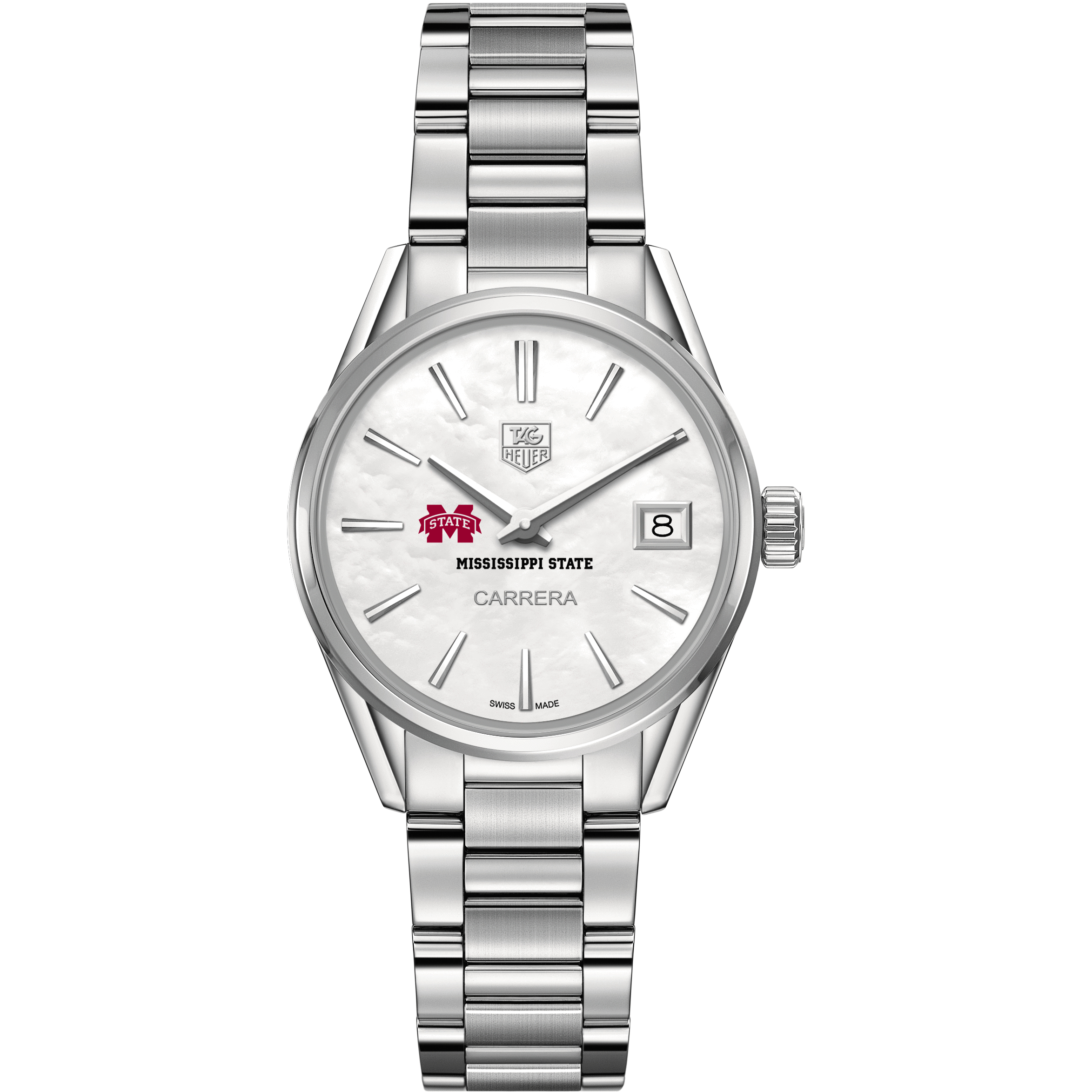 Mississippi State Women's TAG Heuer Steel Carrera with MOP Dial - Image 2
