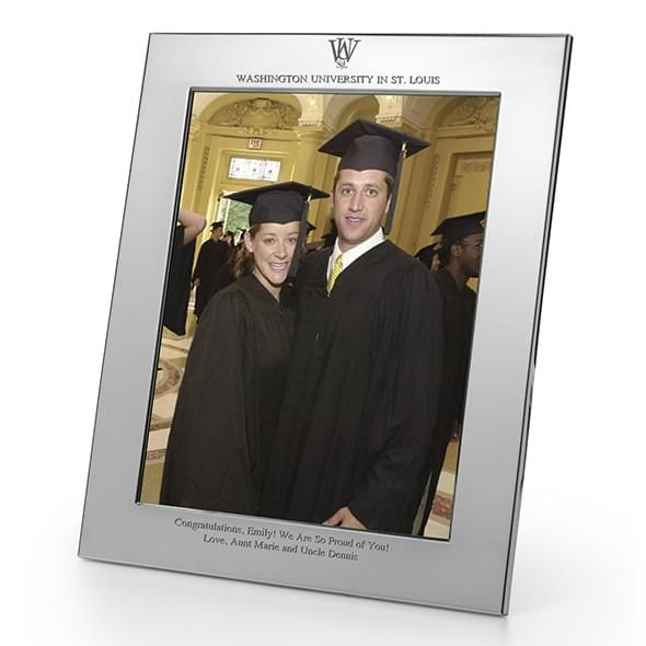 WashU Polished Pewter 8x10 Picture Frame
