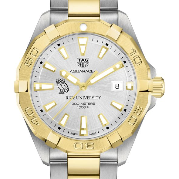 Rice University Men's TAG Heuer Two-Tone Aquaracer