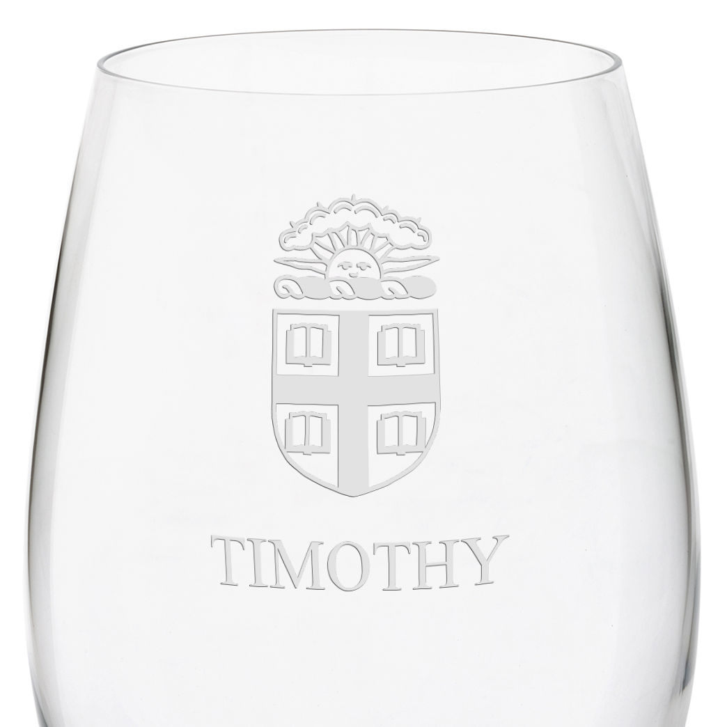 Brown University Red Wine Glasses - Set of 2 - Image 3