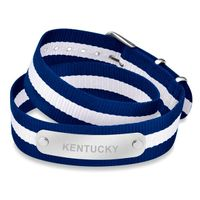 University of Kentucky Double Wrap NATO ID Bracelet