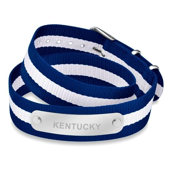 University of Kentucky Double Wrap NATO ID Bracelet - Image 1