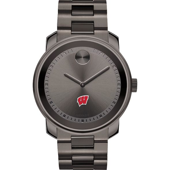 University of Wisconsin Men's Movado BOLD Gunmetal Grey - Image 2