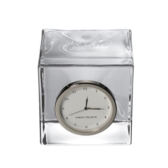 Florida Glass Desk Clock by Simon Pearce - Image 1