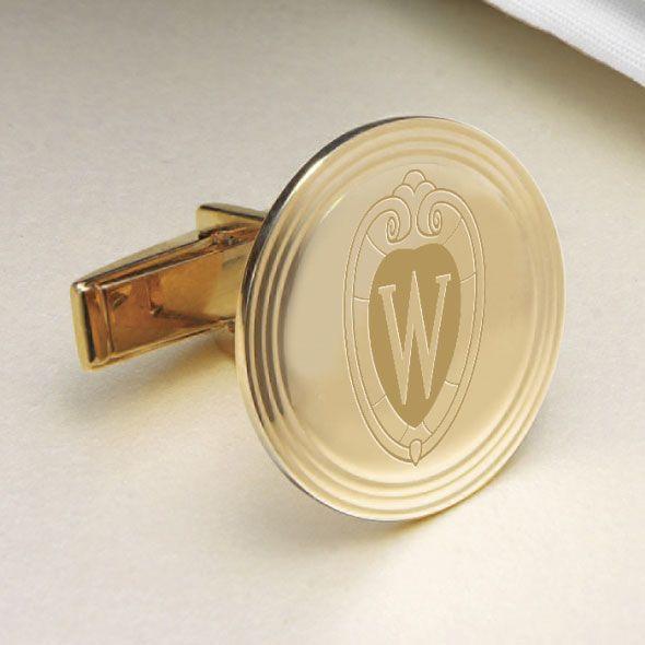 Wisconsin 18K Gold Cufflinks - Image 2