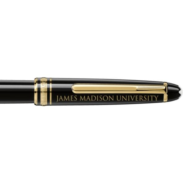 James Madison University Montblanc Meisterstück Classique Rollerball Pen in Gold - Image 2