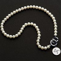 Delta Gamma Pearl Necklace with Sterling Silver Charm