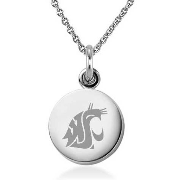 Washington State University Necklace with Charm in Sterling Silver