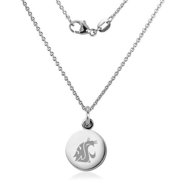 Washington State University Necklace with Charm in Sterling Silver - Image 2