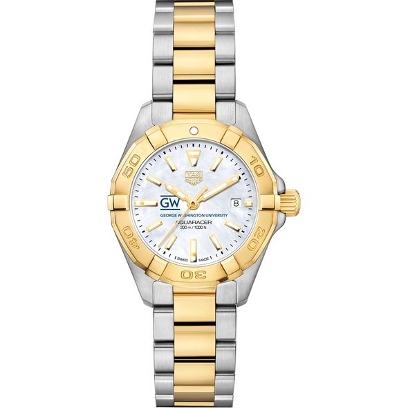 George Washington University TAG Heuer Two-Tone Aquaracer for Women - Image 2