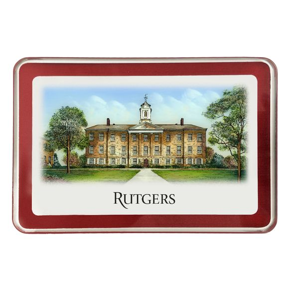 Rutgers University Eglomise Paperweight