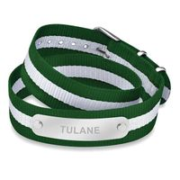 Tulane University Double Wrap NATO ID Bracelet