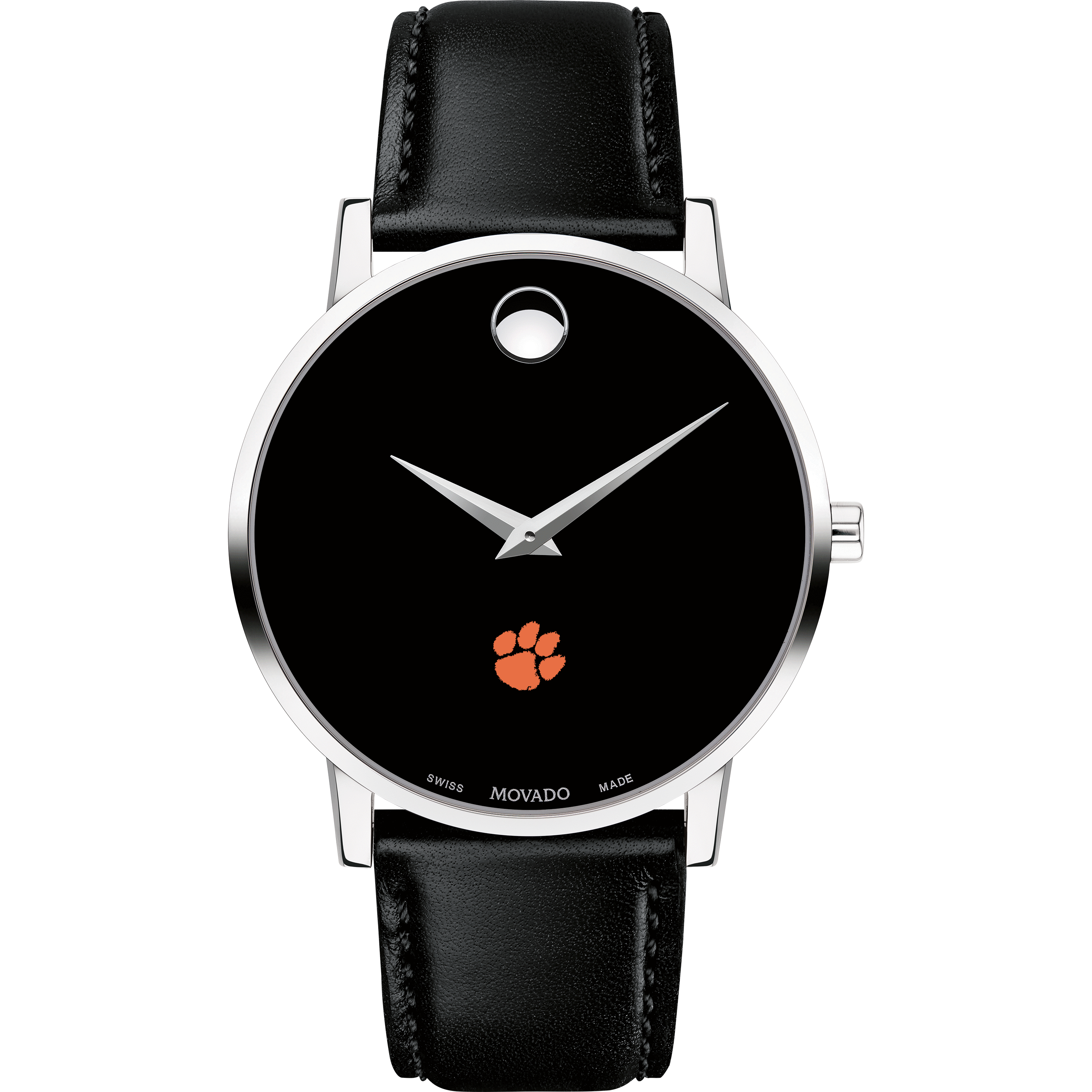 Clemson Men's Movado Museum with Leather Strap - Image 2