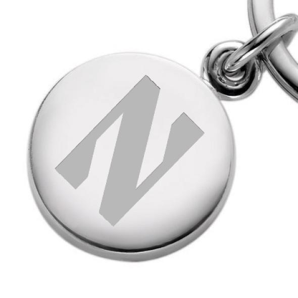 Northwestern Sterling Silver Insignia Key Ring - Image 2