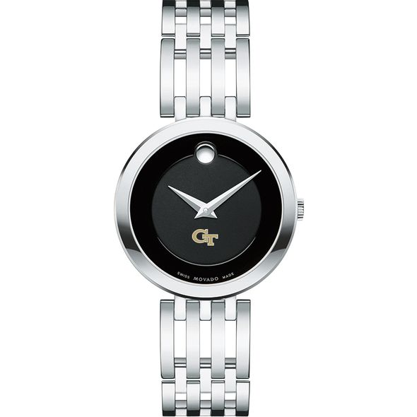 Georgia Tech Women's Movado Esparanza Stainless Steel Museum with Bracelet - Image 2