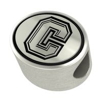 Colgate University Enameled Bead in Black