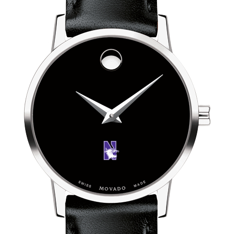 Northwestern Women's Movado Museum with Leather Strap
