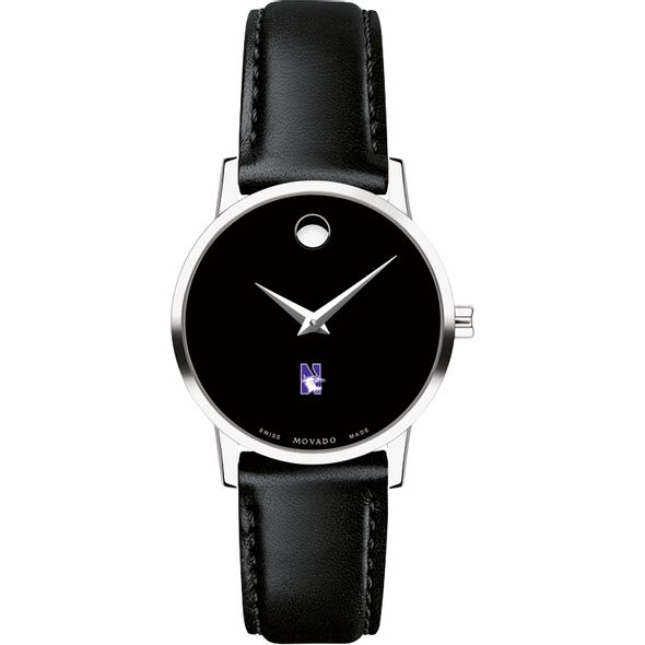 Northwestern University Women's Movado Museum with Leather Strap - Image 2