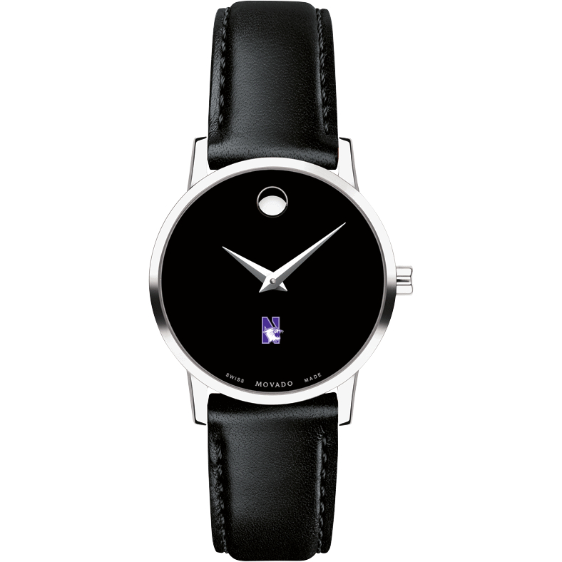 Northwestern Women's Movado Museum with Leather Strap - Image 2