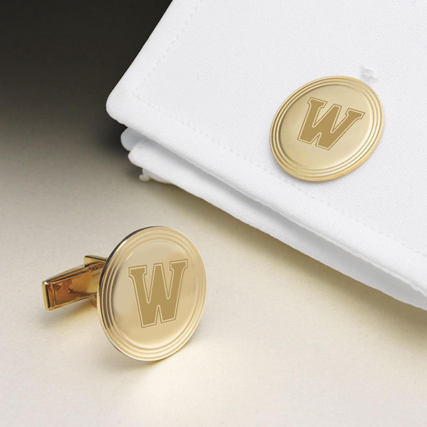 Williams College 18K Gold Cufflinks