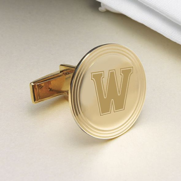 Williams College 18K Gold Cufflinks - Image 2