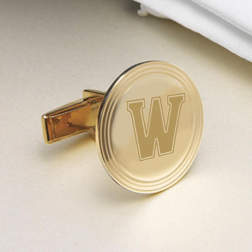 Williams College 18K Gold Cufflinks - Image 2