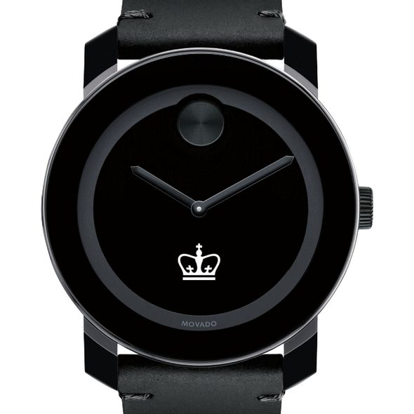 Columbia University Men's Movado BOLD with Leather Strap
