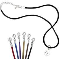 Delta Gamma Satin Necklace with Sterling Silver Charm
