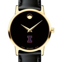 University of Illinois Women's Movado Gold Museum Classic Leather