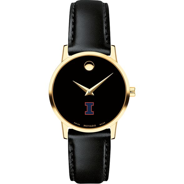 University of Illinois Women's Movado Gold Museum Classic Leather - Image 2