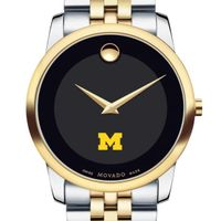 Michigan Men's Movado Two-Tone Museum Classic Bracelet