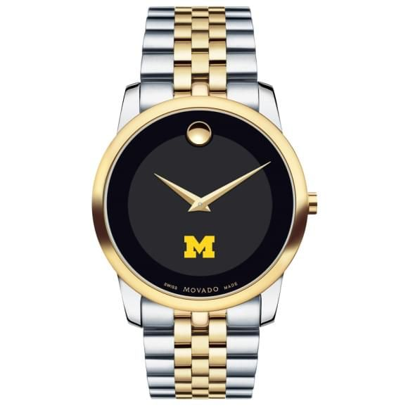 Michigan Men's Movado Two-Tone Museum Classic Bracelet - Image 2