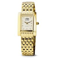 Women's Gold Quad Watch with Bracelet