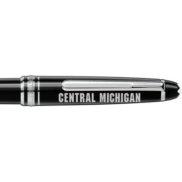 Central Michigan Montblanc Meisterstück Classique Ballpoint Pen in Platinum - Image 2
