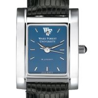 Wake Forest Women's Blue Quad Watch with Leather Strap