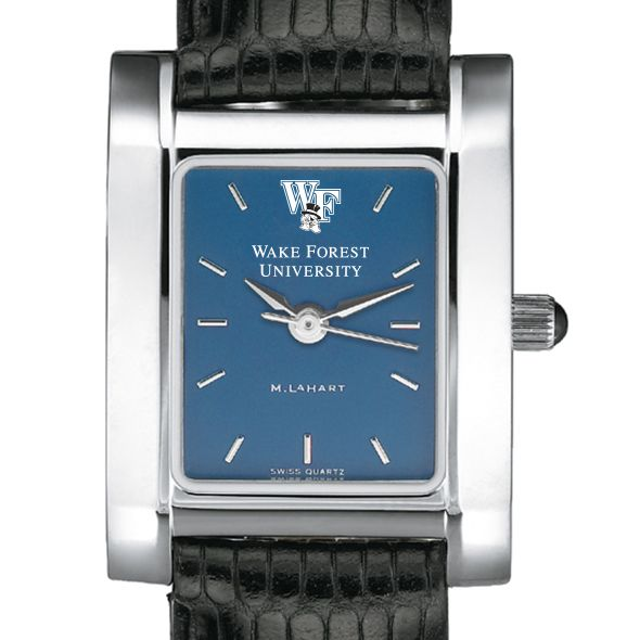 Wake Forest Women's Blue Quad Watch with Leather Strap - Image 1