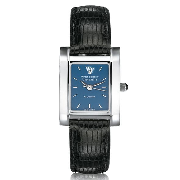 Wake Forest Women's Blue Quad Watch with Leather Strap - Image 2