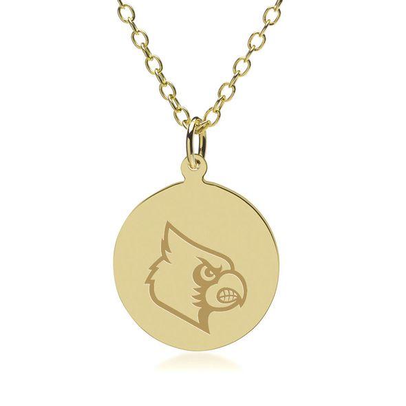 University of Louisville 18K Gold Pendant & Chain