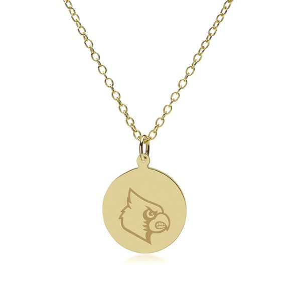 University of Louisville 18K Gold Pendant & Chain - Image 2