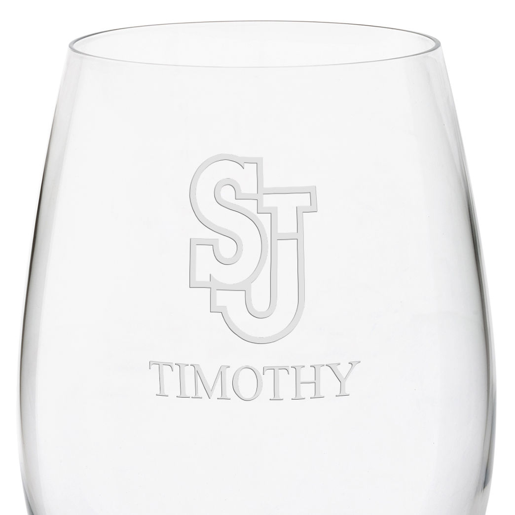 St. John's University Red Wine Glasses - Set of 4 - Image 3